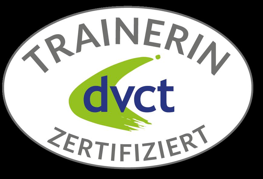 Abzeichen des dvct als zertifizierte Trainerin
